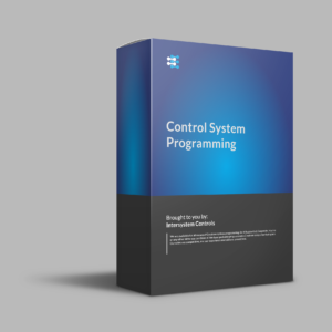 A product image of a blue and black box for Control system programming services.